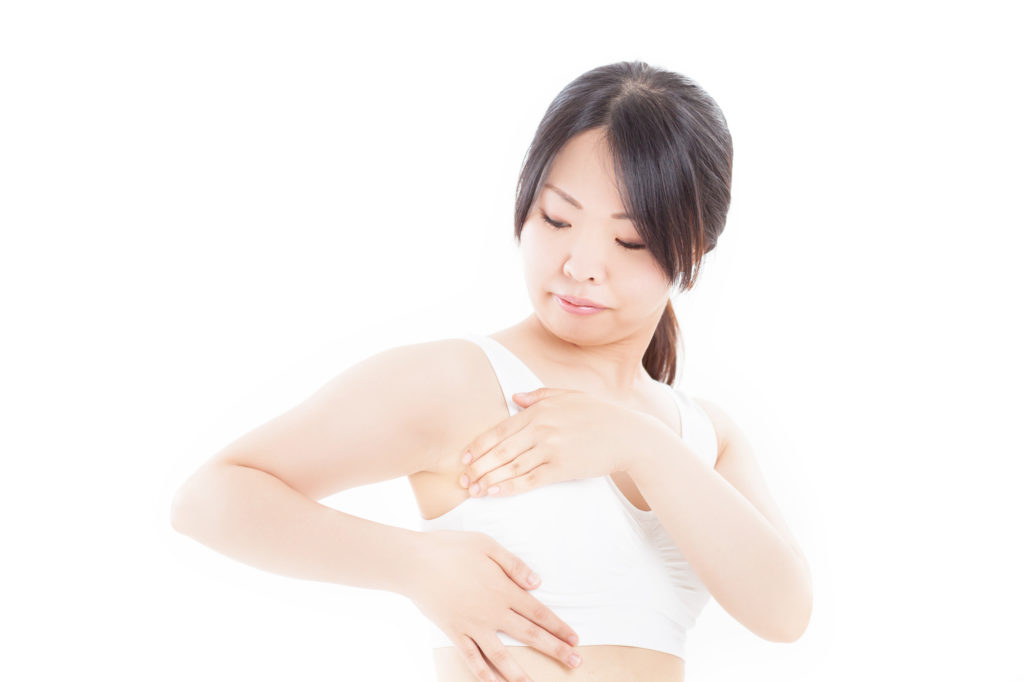 乳がん しこり セルフチェック 位置