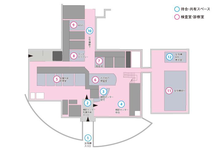 ブレストセンターフロアマップ